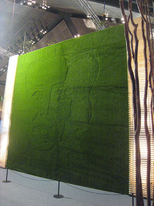Artificial Grass Wall Art at Mao