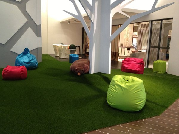 artificial grass indoors