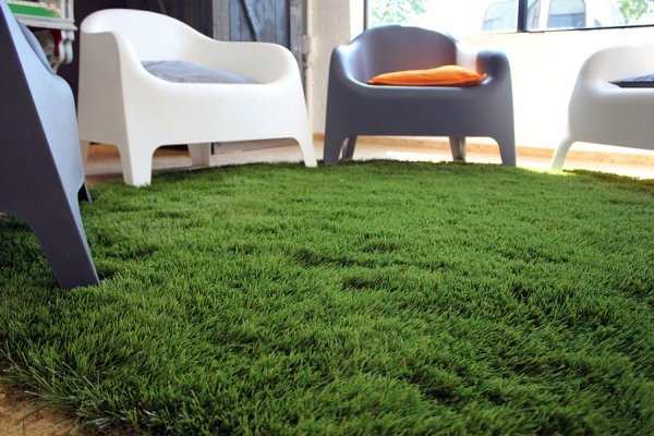 artificial grass in the living room
