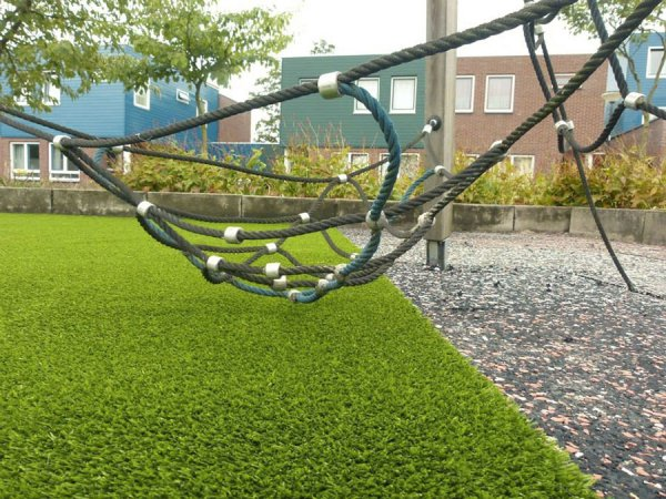 climbing frame on fake turf