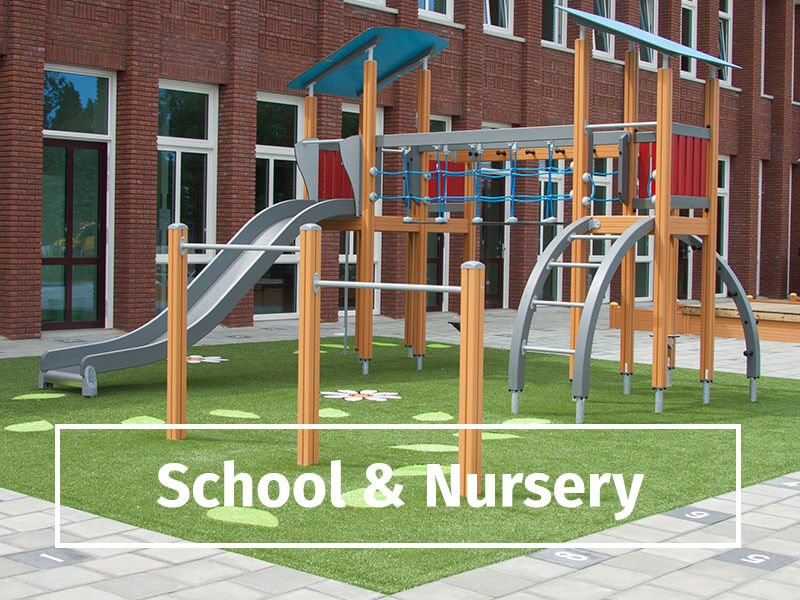 school and nursery playgrounds
