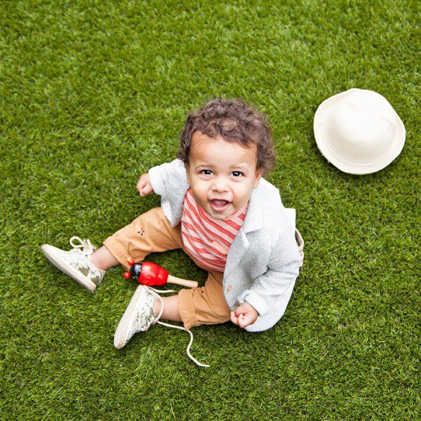 soft play on artificial grass